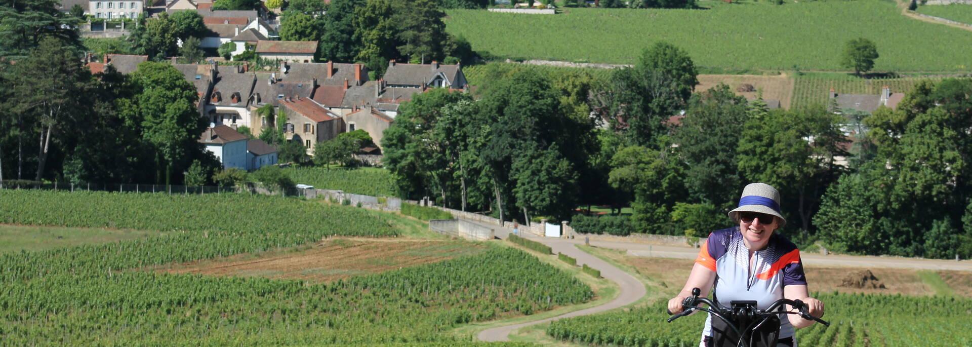 Promenade à vélo Mercurey Côte Chalonnaise