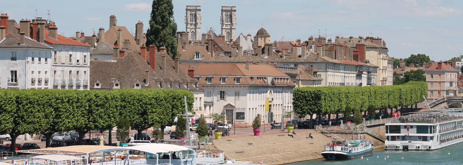 Quais de Saône et cœur de ville de Chalon sur Saône