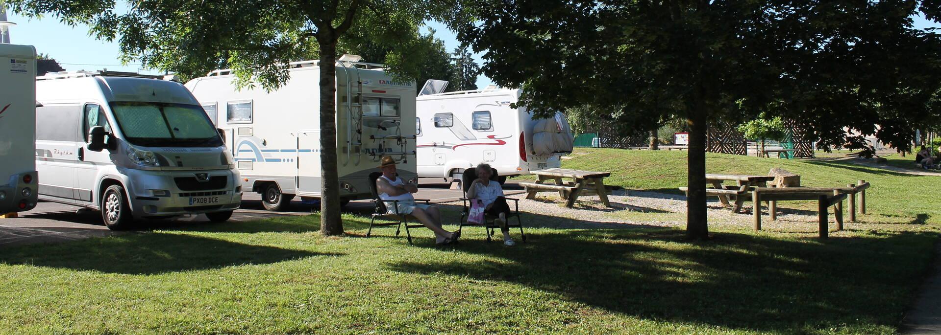 Aire de camping car Givry Voie verte